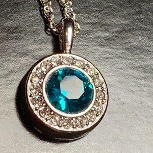 New Swarovski Birthstone Necklace December Zircon